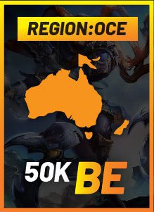 OCE 50k on a gradient background
