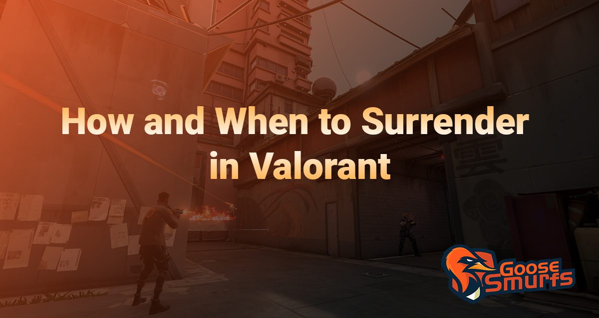 How to Surrender in Valorant on a gradient border
