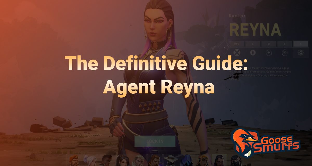 Reyna Guide on a gradient background