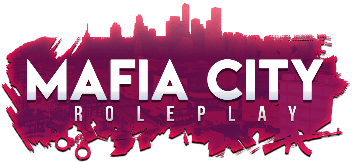 Mafia City Roleplay on a red background